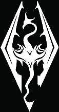 "Skyrim Imperial Logo (Dragon) – Vinyl – 6"" tall (color: WHITE) decal.."