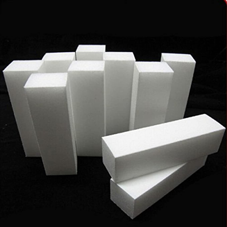 ステープルラフ固体BeKitty 白ネイルアートバッファーバフサンディングファイルブロック