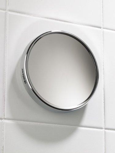 Nicol 4022850 Nena Kosmetikspiegel 7-fach Vergrößerung Aufsatzspiegel mit Saugnäpfen