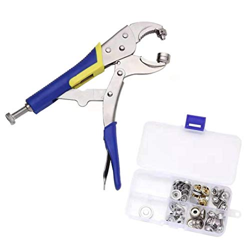 【Upgraded version】Snap Pliers Fastener Tool Kit Snap Installation Set Hand Tools for Fastening, Replacing Metal Snaps, Repairing Boat Covers, Canvas, Sewing, Tarps - YZS