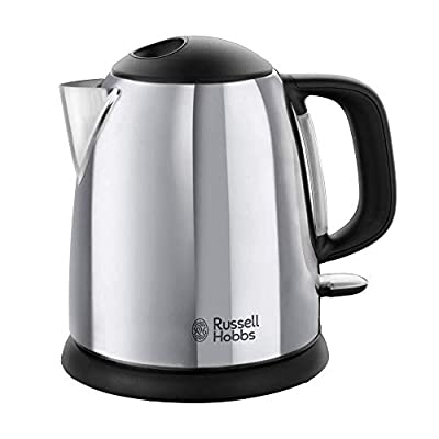 Russell Hobbs 24990-70 Bouilloire 1L Victory, Ebullition Rapide, Marquage Tasses, Ouverture Facile, Design Compact