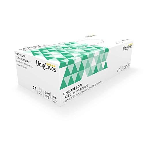 Unigloves UCLPF1203 Medium Latexpulver fria handskar (låda med 100)