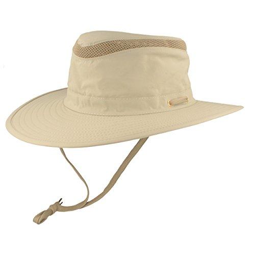 Hut Breiter Hut Breiter Safarihut | Buschhut | Sonnenhut - mit UV Schutz 30+ - Atmungsaktiv, leicht & faltbar, mit verstellbarem Kinnband & geheimer Tasche