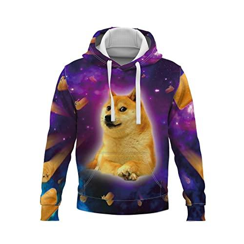s de Hombres Outwear Diseño Fresco de Manga Larga de impresión Chaqueta Capucha Linda impresión Digital 3D en suéter de Cachorro