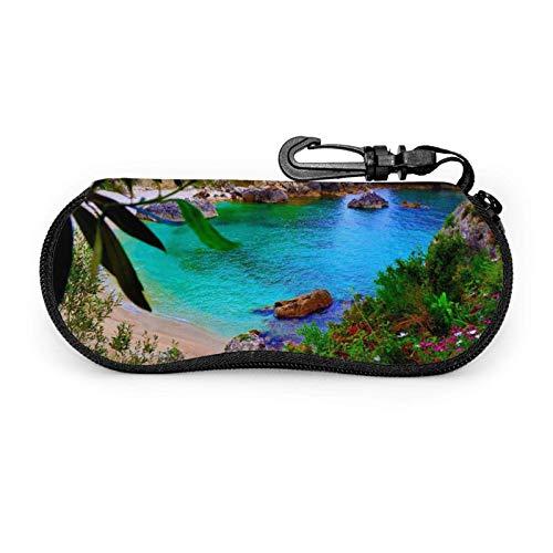 Arvolas Estuche para gafas Wonderland Unisex Portátil Neopreno Cremallera Gafas de sol Estuche blando