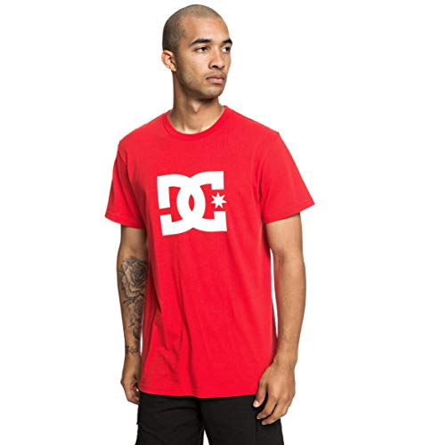 DC Shoes Star Tee-Shirt Homme, Racing Red, FR : XL (Taille Fabricant : Extra Large)