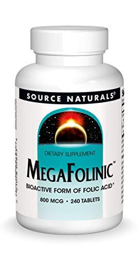 Price comparison product image Source Naturals MegaFolinic 800mcg - 240 Tablets