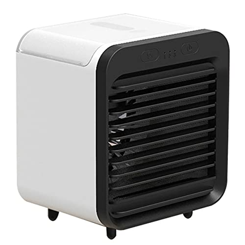 Aire Acondicionado De Escritorio, Mini Enfriador De Aire Evaporativo Ventilador De Nebulización Con 3 Velocidades De Viento Ventilador De Refrigeración Portátil Para El Hogar Y La Oficina,Negro