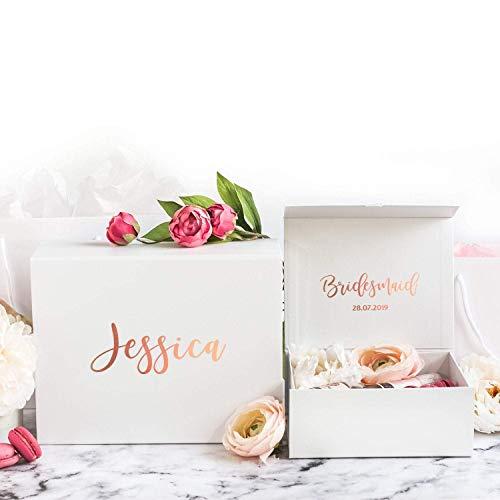 Brautjungfer Geschenkbox | Personalisierte Geschenkbox | Personalisiertes Hochzeitsgeschenk | Brautjungfer Geschenkbox | Brautjungfern-Antragsbox