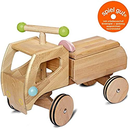 Buchenblitz Holz Rutscher Frot - LKW, Lastwagen, Aufsitzer, Rutschauto, Kinder ab 1 Jahr (Vorführwagen)