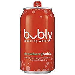 bubly sparkling water strawberry flavor