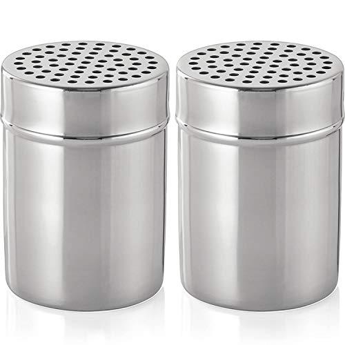 mikken – 2 grandi spargispezie 300 ml in acciaio inox trasparente