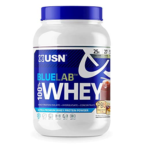USN BlueLab 100 Whey Peanut Butter Jelly 2 lbs 907 2 g