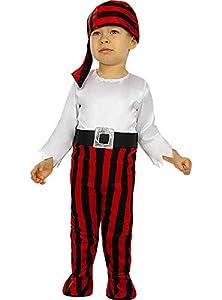 Funidelia | Disfraz de Pirata - Colección bucanero para bebé Talla 12-24 Meses ▶ Corsario, Bucanero - Color: Blanco - Divertidos Disfraces y complementos