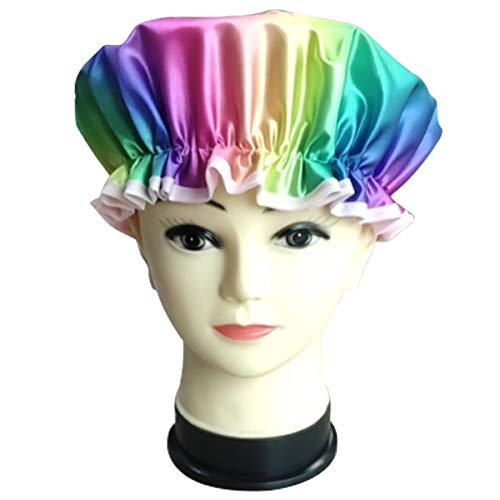 Rainbow Seattle Mall and unicorn half shower Caps fit Children SIZE Adults ONE