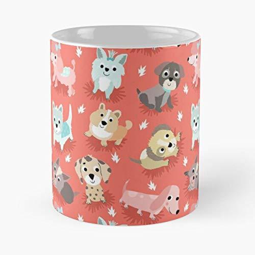 Dogs Tracy for Animals Cute Quirky Puppies Cottingham Kids Pets Come Food Bite John Best Taza de café de cerámica de 325 ml