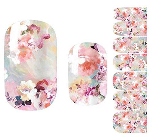 Nail Art Stickers Full Wrap Space Design - Flower Nail Sticker Tattoo
