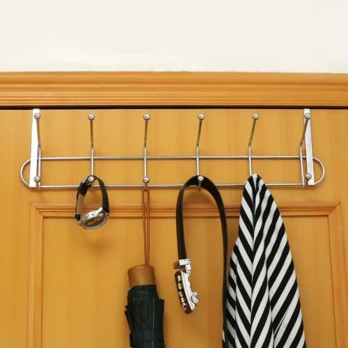 Percha cromada colgar puerta 12 ganchos, ideal ahorrar