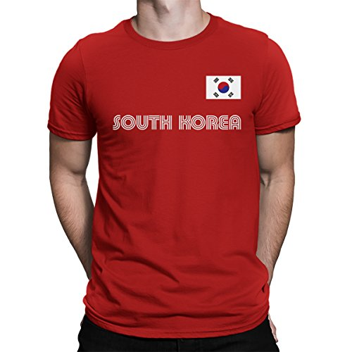 SpiritForged Apparel South Korea Soccer Jersey Men's T-Shirt, Red XL