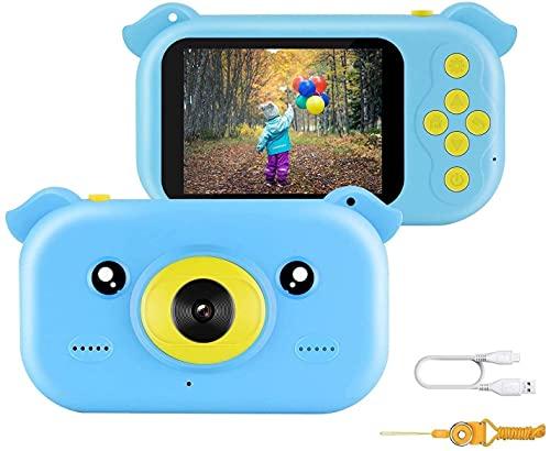 BeaSaf Kinderkamera, Digital Kinder Kamera Videokamera 2 Zoll HD-Bildschirm 1080P Ultradünne Kinderspielzeugkamera Kleinkind Kamera für 3 bis 12 Jahre alte