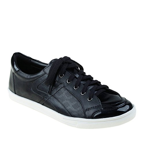 Earth Women's Quince Sneaker,Black Soft Calf Leather,US 6.5 M