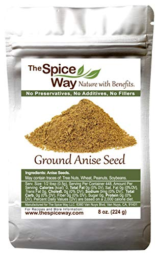 The Spice Way Premium Anise Seeds - Ground seeds ( 8 oz ) also called Aniseed. Used for baking bread, cooking and even tea.