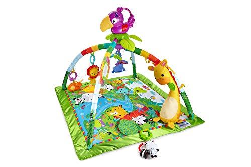 Fisher-Price - Gimnasio Deluxe Animalitos de la Selva, Manta de Juego Bebé (Mattel DFP08), Embalaje estándar