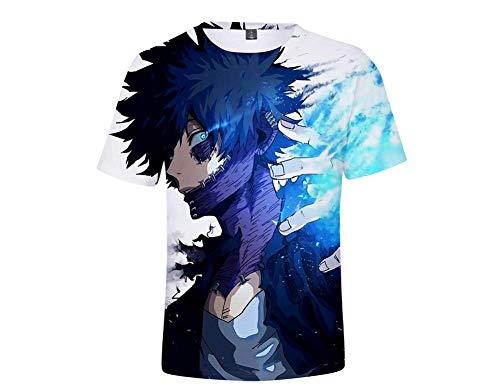 Fang La Camiseta, la Manera 3D de la Camiseta de los Hombres mi héroe Academia de Manga Corta Impresa Manga Corta Camiseta Digital Ronda de impresión Cuello Casual Unisex