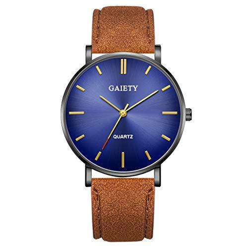 Analog Quarz ultradünn Classic Minimalistisches Design Armbanduhr für Herren, Skxinn Herrenuhren,Männer Business Fashion Einfach Armbanduhren mit Kunstlederband, Ausverkauf(U)
