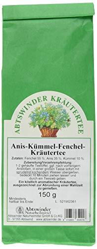 Abtswinder Naturheilmittel Anis-Kümmel-Fenchel Kräutertee 150 g Blockbodenbeutel
