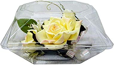 Boutonniere Flower Box Clear Prom Wedding Corsage Craft Container w/ eBook (4.5