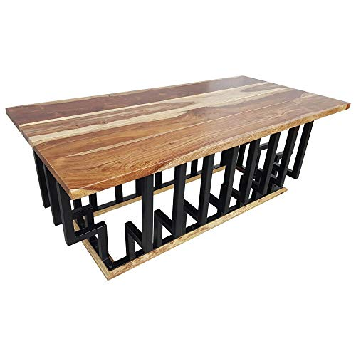 Sheesham Table basse en bois massif 60 cm