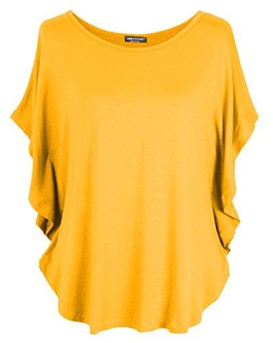 Emma & Giovanni - T-Shirt/Top - Donna (ocra, M-L)