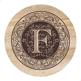 Thirstystone Monogram F - Sandstone Coaster Set Of 4