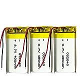 ahjs457 3 uds 3,7 V Lipo Celdas 502040 400 mah batería Recargable de polímero de Litio para MP3 MP4 MP5 GPS Auriculares Bluetooth DVD PDA lámpara LED cámara