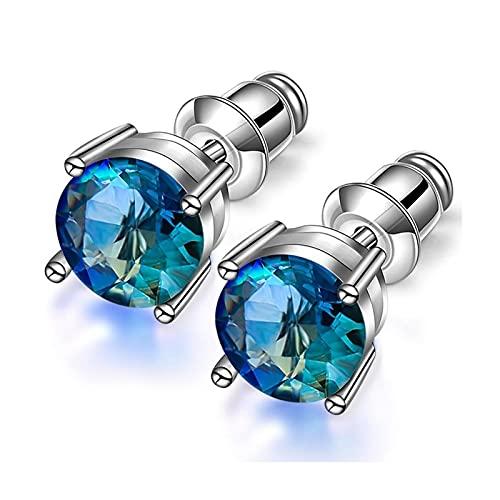 Abnehmen Gewichtsverlust Ohrringe Fett Brennen Magnetische Therapie Energie Gewichtsverlust Ohrstecker Modeschmuck Zubehör (Metal Color : Blue)