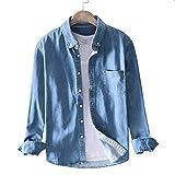 デニムシャツ メンズ シャツ 長袖 カジュアルシャツ トップス おしゃれ ファッション 3色展开