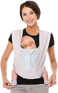 CUBY 抱っこひも ベビースリング おんぶ 軽量 コンパクト お出かけ 持ち運び 脱着 簡単 安全 綿100% (グレー)