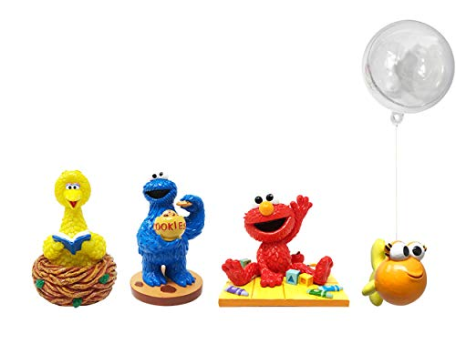 Penn-Plax Officially Licensed Sesame Street 4 Piece Aquarium Ornament Bundle – Elmo, Cookie Monster, Big Bird, and Dorothy – All Medium Size – for Freshwater and Saltwater Tanks