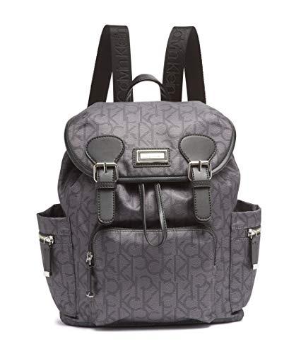 Calvin Klein Belfast Nylon Buckle Backpack, Asphalt/Black Photoprint