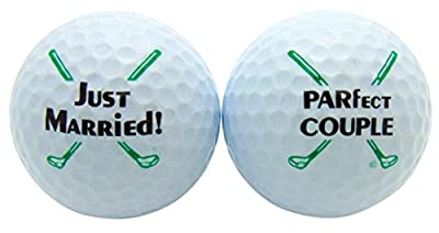 Westman Works Just Married Newleywed Golf Balls Gift Boxed Two Ball Set