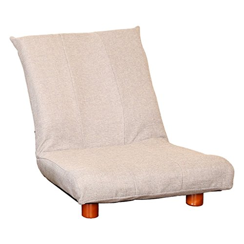 LI Jing Shop - Plier Sofa Paresseux Chambre Salon Tissu Loisirs Fauteuil (Couleur : Gris Clair)