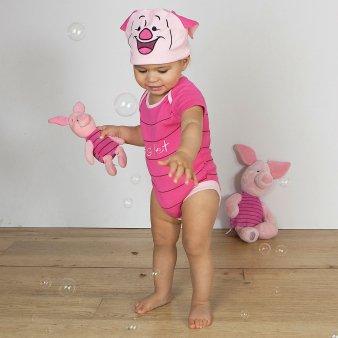Costume/grenouillère bébé officielle Disney - Porcinet de Winnie l'ourson - Taille 9-12 mois