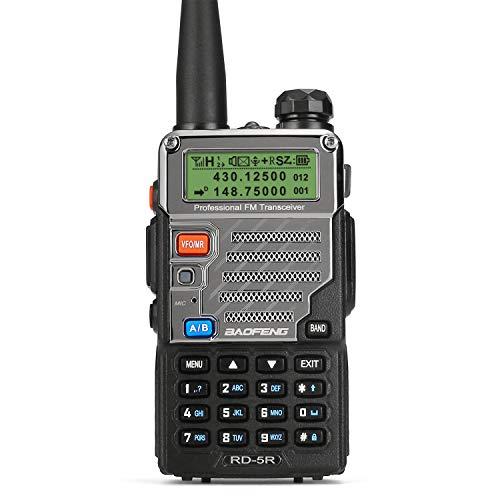 Radioddity x Baofeng RD-5R DMR digitales Amateurfunk Transciever dualband Doppelzeitschlitz Handfunkgerät 1024 Kanäle Tier I & II kompatibel mit MOTOTRBO, gratis Programmierkabel