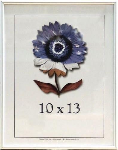 Amazon Com Frame Usa Metal 2 Series 10x13 Frames For Photos And Art Contrast Silver Single Frames