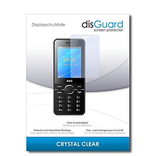 disGuard® Bildschirmschutzfolie [Crystal Clear] kompatibel mit AEG M1250 [2 Stück] Kristallklar, Transparent, Unsichtbar, Extrem Kratzfest, Anti-Fingerabdruck - Panzerglas Folie, Schutzfolie