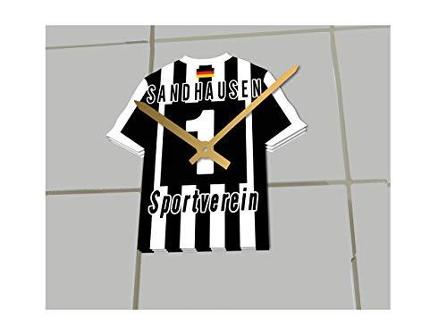 2. Bundesliga Deutschland FUßBALL Shirt Uhren - 2. Bundesliga Fußball, JEDER Name & Jede Nummer - NEUES ACRYL Shirt Design !!! (SV Sandhausen)