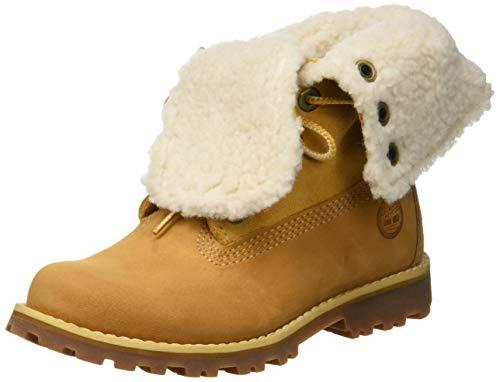 Timberland Unisex-Kinder 6 In Premium Waterproof Shearling Lined Klassische Stiefel, Gelb (Wheat Nubuck), 25 EU