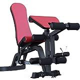 Banco utilitario de ejercicio Multifuncional Banco de ejercicio de pesas ajustable de la cama de fitness Prensa de Sobremesa con extensión de la pierna y la pierna rizos Banco de pesas ajustable para