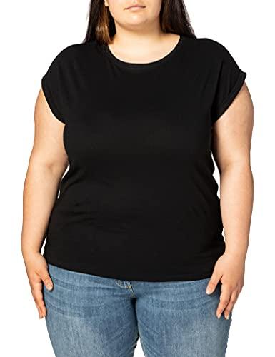 Urban Classics Ladies Extended Shoulder tee Camiseta, Negro, XXL para Mujer